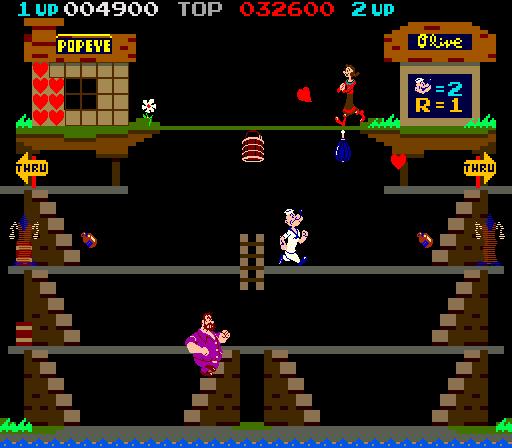 Arcade Popeye Nintendo 1982 Program Bytes 48k