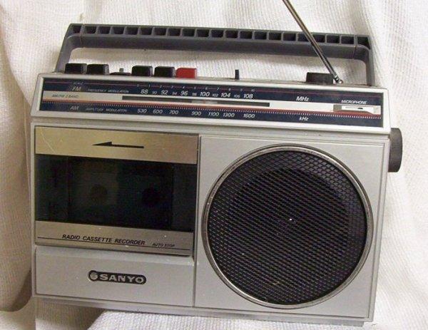 Radiocassette Sanyo