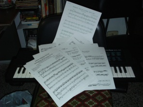 Lots of scores to arrange and a keyboard to play